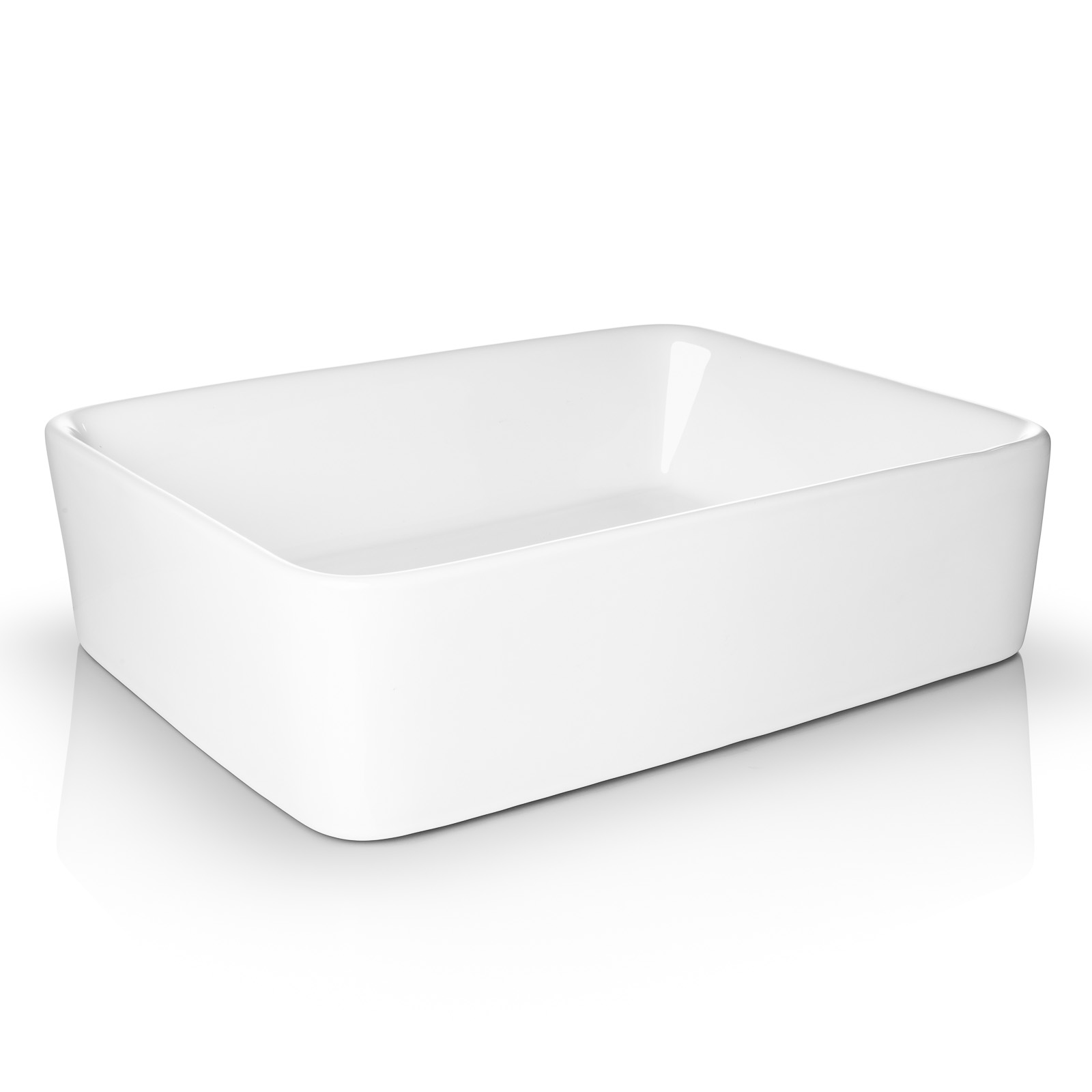 Miligore 19 Quot X 15 Quot Rectangular White Ceramic Vessel Sink